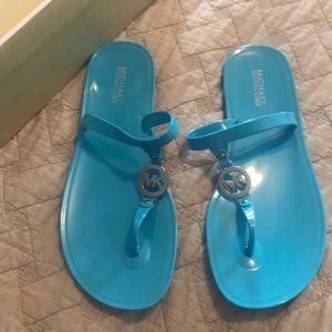 Michael Kors Jelly Sandals sz 10 Aquamarine NWB